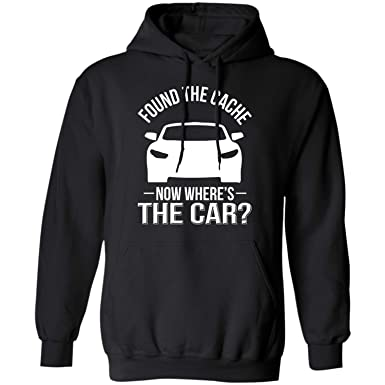 Teechopchop Found The Cache Wheres My Car, Dad, Racing Lovers, Racer Gifts, Turbo Fast Hoodie at Amazon Mens Clothing store: