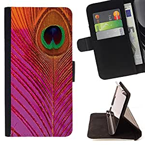 Super Marley Shop - Funda de piel cubierta de la carpeta Foilo con cierre magn¨¦tico FOR Apple iPhone 6 6S 4.7 - Peacock Feather