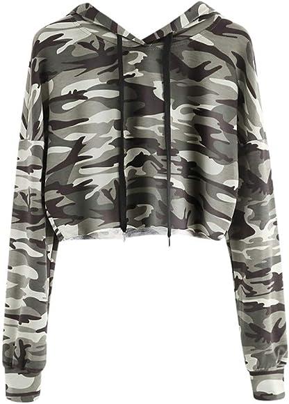 Generic Mens Casual Camouflage Long Sleeve Pullover Hoodie Sweatshirt Outwear Black XS
