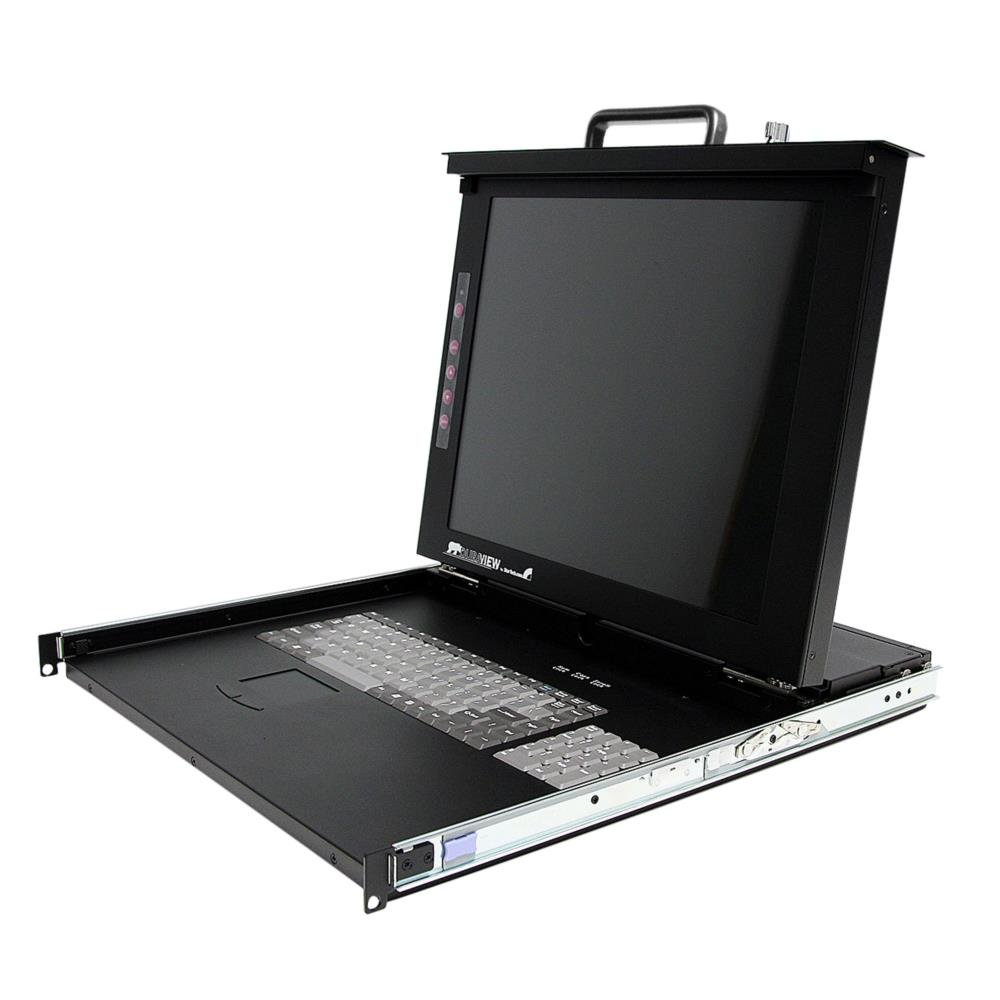 StarTech.com 1U 17'' Rackmount LCD Console with 8 Port Multi-Platform KVM - KVM Console  1U Rack Mount with 17in LCD