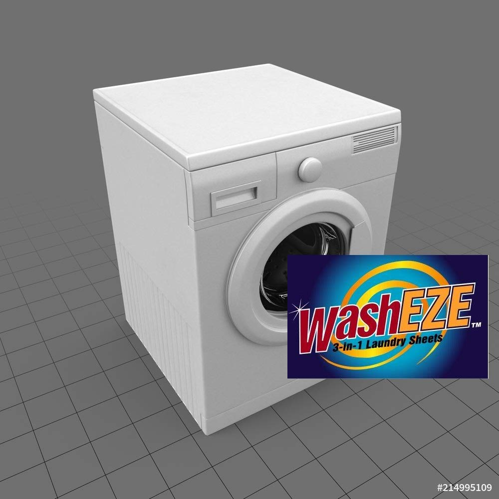 WashEZE (Laundry Detergent), 40 Sheets/Loads Light Scent Includes Detergent, Fabric Softener, Stain Lifter and Static Guard All in One Laundry Detergent Solution