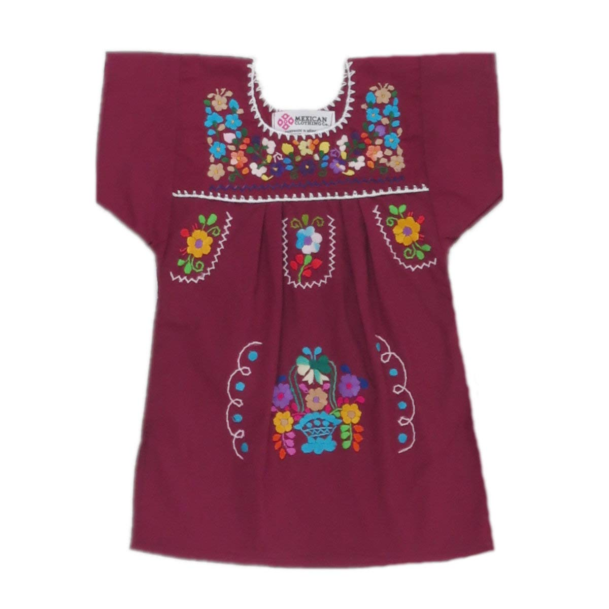 d989d9c9341 Amazon.com  Mexican Clothing Co Baby Girls Mexican Dress Traditional  Tehuacan Poplin CT  Clothing