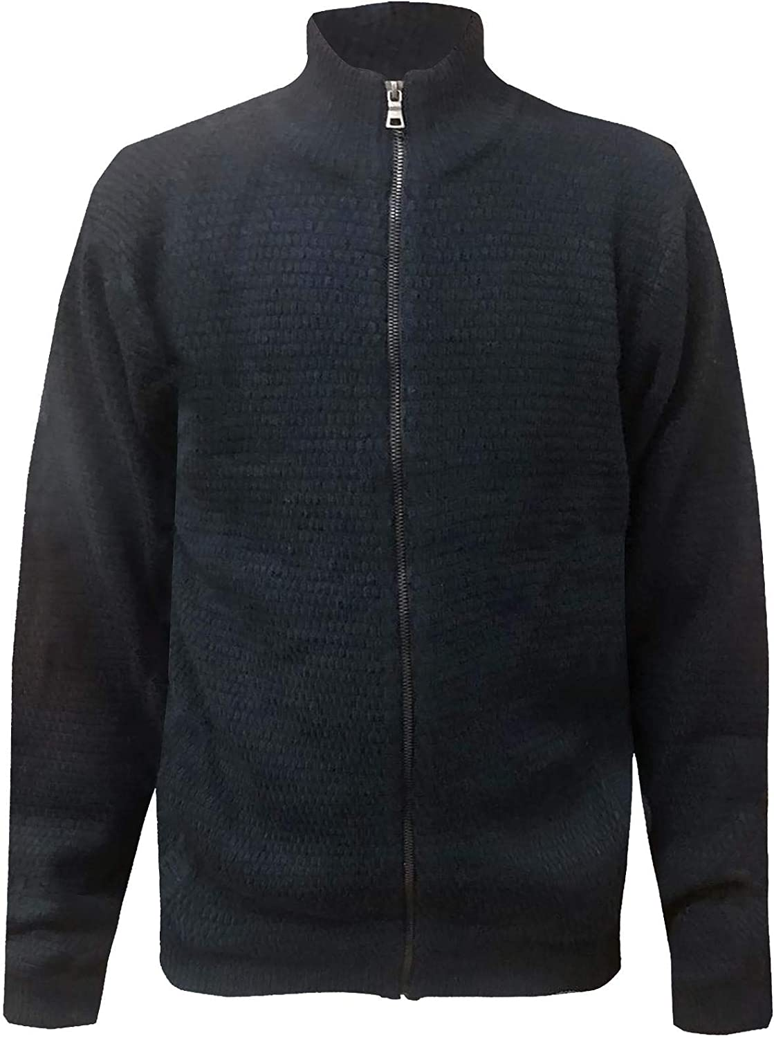 New Mens Marks /& Spencer Pure Cotton Textured Knitted Weave M/&S Zip Up Cardigan