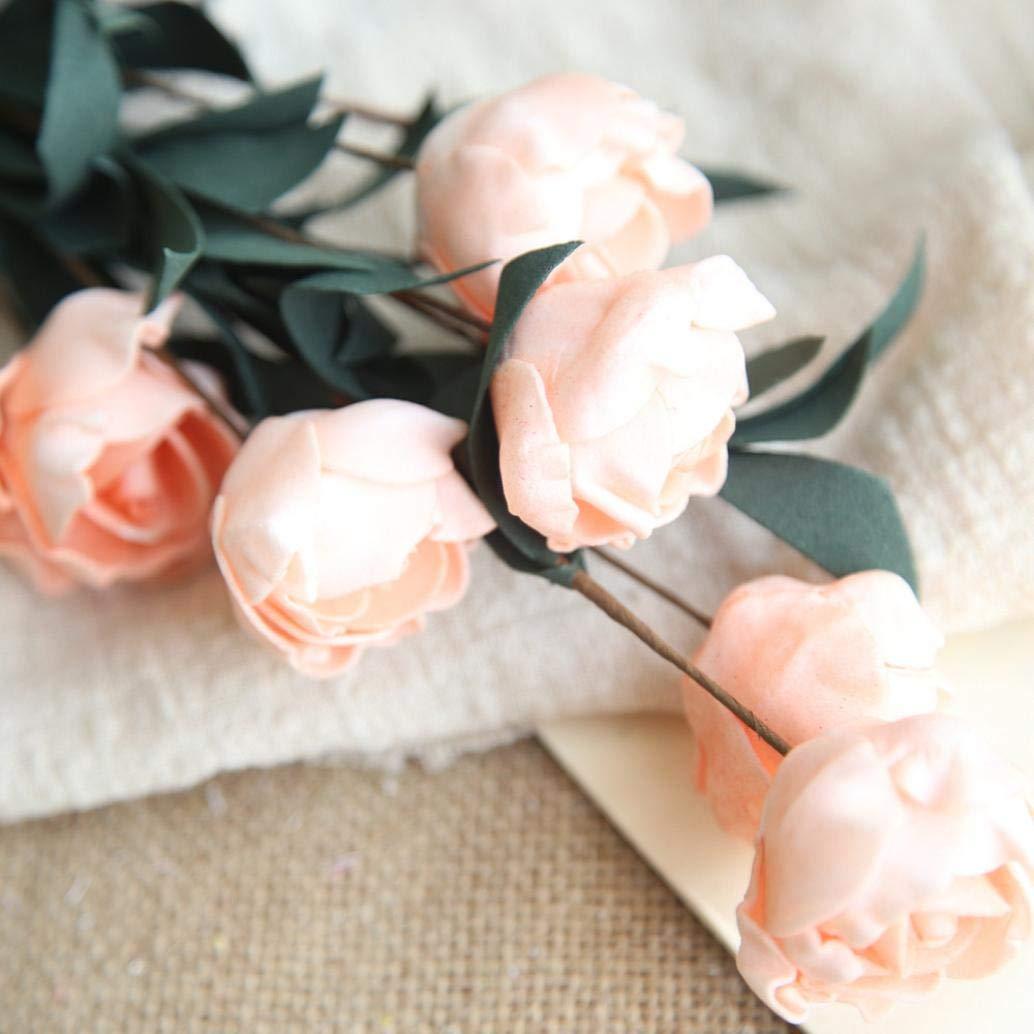 Artificial Flowers MaxFox Fake Rose Bouquet PE Flower Bridal Hydrangea Bouquets Home Office Wedding Party Decor
