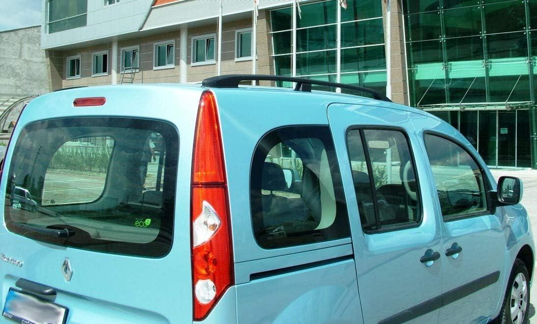 Barres de Toit Renault Kangoo 2 et Rapid 2008 en Aluminium Aspect Noir avec T/ÜV et ABE