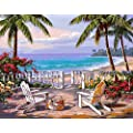 Morgofun Diy Oil Painting Paint By Numbers For Adults Paint By Number Kits Beautiful Hawaii Scenery Painting By Numbers For Adults 16x20inch Hawaii