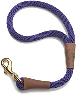 product image for Mendota Pet Traffic Leash - Short Dog Lead - Made in The USA - Purple, 1/2 in x 16 in