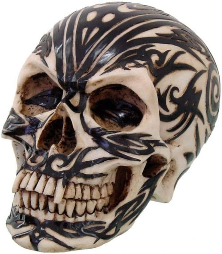 Horror-Shop Cráneo maorí del adorno tribal: Amazon.es: Juguetes y ...