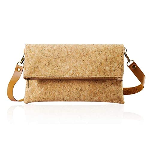 b3340a4987ff69 Cross Body Bag Small Clutch Purse Fold Over Light ECO Cork For Women Girl