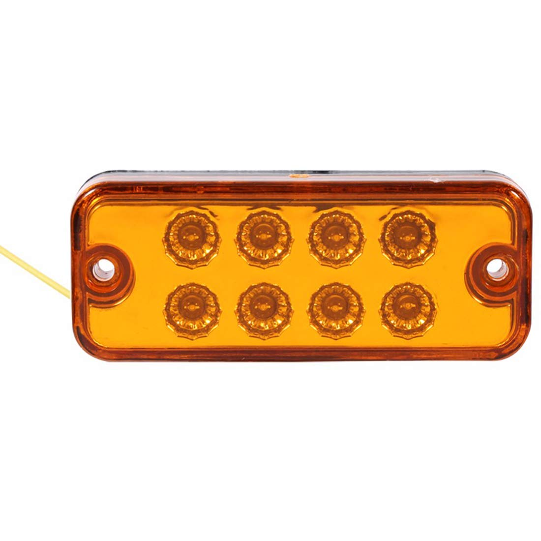 Luz Delantera de la L/ámpara Posterior Indicador para 24V Cami/ón Remolque Caravana RV Bus Luz de G/álibo VIGORFLYRUN PARTS LTD 6pcs 8 LED Luz de Marcador Lateral Amarillo