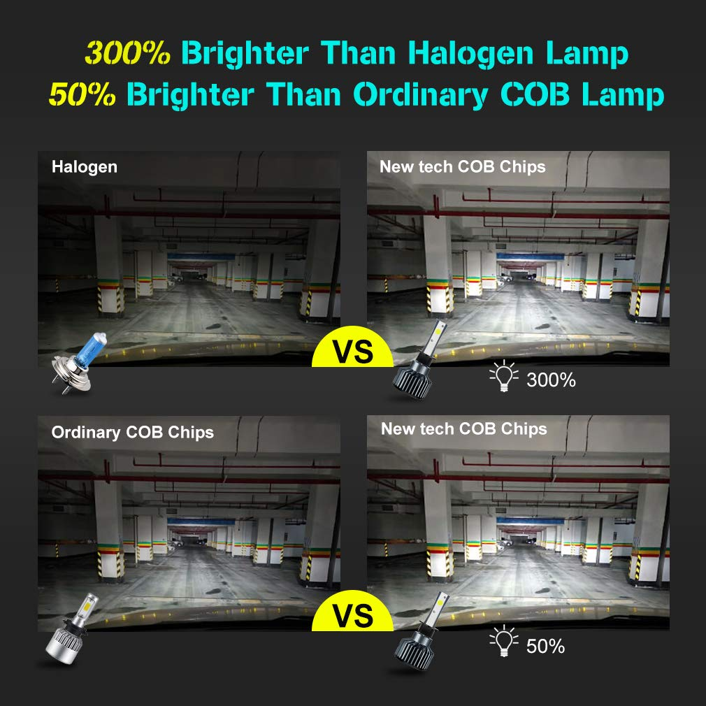 Super Bright White Conversion Kit ToAUTO 4350356099 H4 LED Headlight Bulbs High Low Beam 9003 HB2 Hi//Low Upgraded COB Chips 8000LM 60W Replacement Motorcycle Car Auto Headlamp