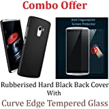 Febelo Febelo Branded Combo Pack 2.5D Curve Edge Tempered glass Screen Protector + Black Color Rubberised Matte Finished Hard Back Case Cover For Lenovo K4 Note