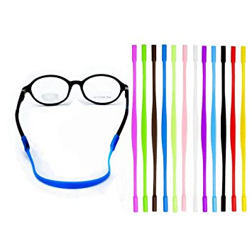 226e7d3f8d3 Amazon.com  YALEX 12 Colors Anti-slip Glasses Strap Sports Glasses ...