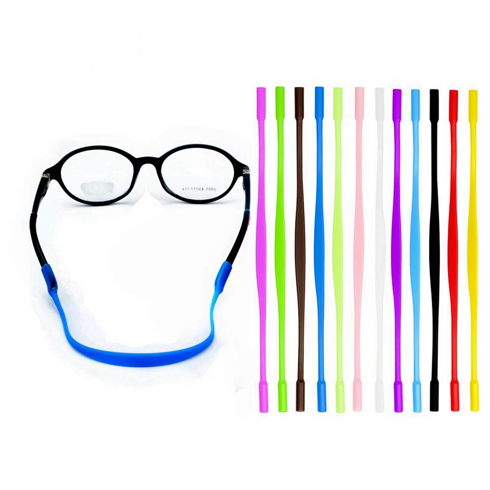 YALEX 12 Colors Anti-slip Glasses Strap Sports Glasses Strap Holder for Kids ,Glasses chain 12 Pieces