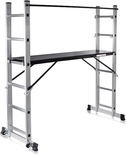 MAXCRAFT Plataforma de Trabajo Multipropósito Escalerilla Escalera ...