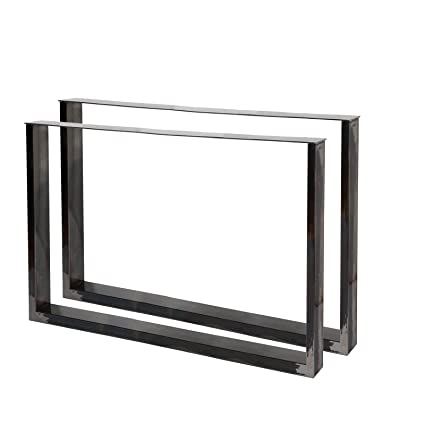 Bastidores para mesa 100x72 cm Acero lacado claro Caballetes para ...