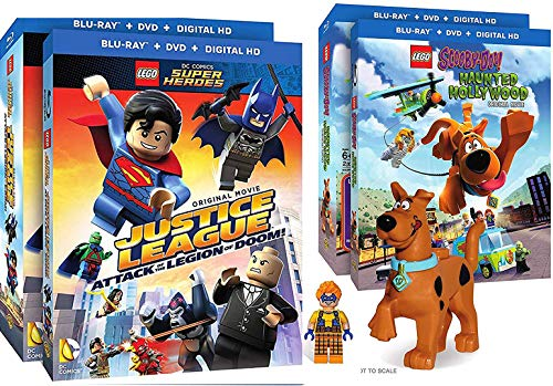 Scooby Doo Double Pack - DogBat LEGO Character Movie Pack Trickster Pack Blu Ray + DVD Justice League: Attack of the Legion of Doom! Scooby-Doo Haunted Hollywood w/ Figurine Special Edition Super Double Feature 2 Pack