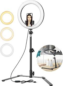 Todo para el streamer: ELEGIANT Anillo de luz Trípode LED 10