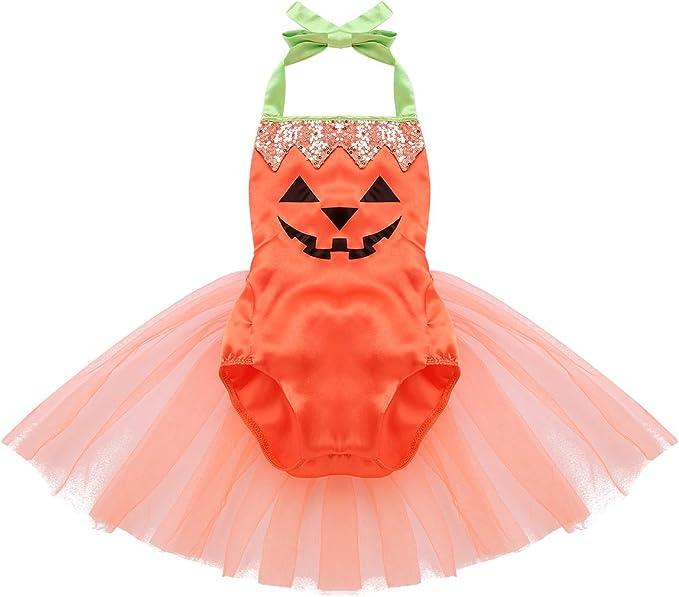 iiniim Bebe Pelele Vestido Calabaza Disfraz Infantil para Bebé ...