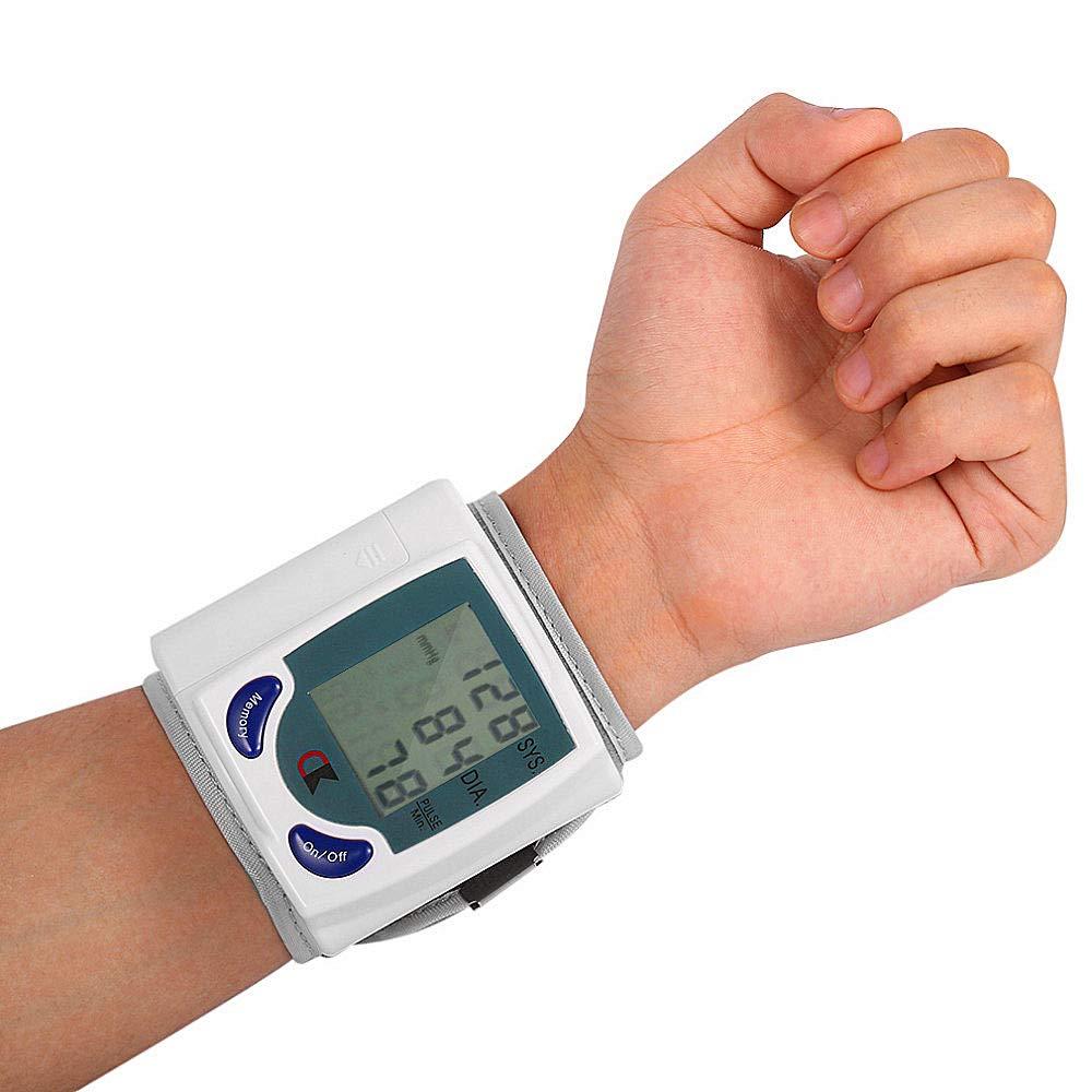 Pandady Automático Muñeca Tipo Electrónico Tensiómetro Digital Presión Arterial Reloj Portátil Mayor Presión Arterial Hogar: Amazon.es: Hogar