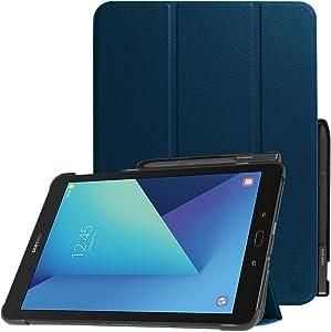 Fintie Funda para Samsung Galaxy Tab S3 9.7 con Portalápiz para S Pen - Súper Delgada y Ligera Carcasa con Función de Auto- Reposo/Activación para Modelo SM-T820/T825, Azul Oscuro