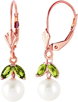 14K Solid Rose Gold Stud Earrings Natural Black Pearl Brilliant Stylish Design
