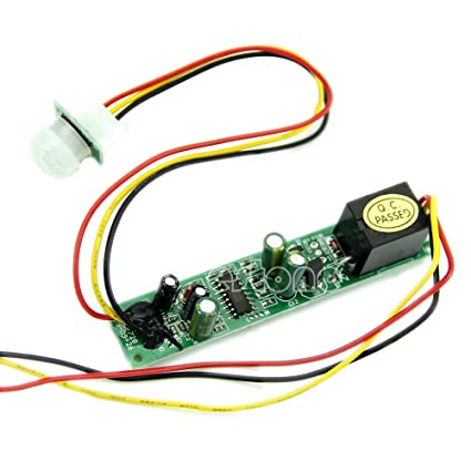 Active Components Electronic Components & Supplies Human Body Sensor Dc 12v 5a Ir Pyroelectric Infrared Pir Motion Sensor Detector Module 4-5m Sensing Distance For Toilet Basement