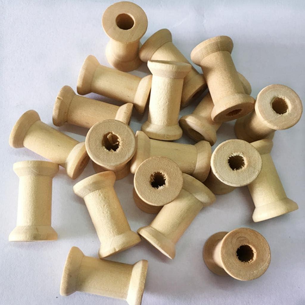 ca Spule Holzspule 21 mm Lang Buche #6505 Zwirnspule miniatur