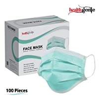 Healthgenie Disposable Elastic 3-Ply Face Mask - 100 Pieces (Green)