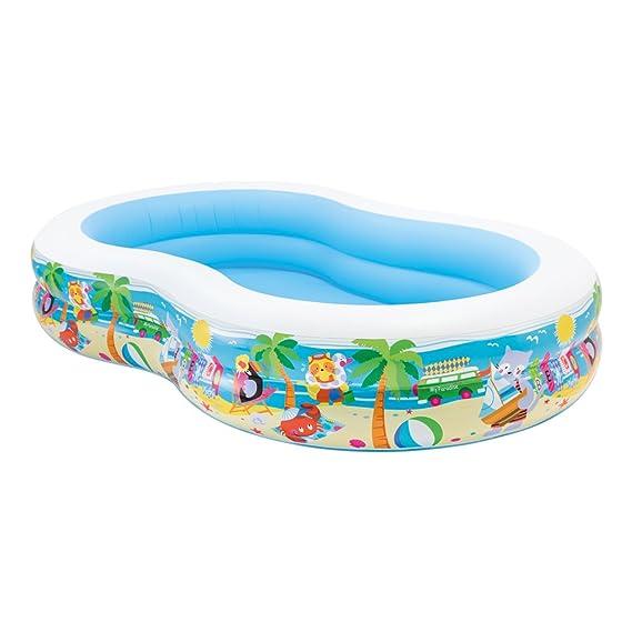 Intex Swim Center Seashore Pool - Kinder Aufstellpool - Planschbecken - 262 x 160 x 46 cm - Für 3+ Jahre