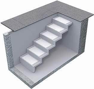 Escalera de poliéster de REKU, elegante para fijar a la pared/escalera de piscina de clase extra/escalera para su piscina/soporta hasta 250 kg/varios modelos: Amazon.es: Jardín