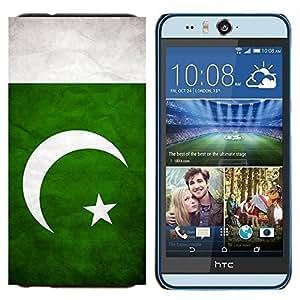 BearCase / Cubierta de protección Caso duro de la contraportada de Shell Plástico /// HTC Desire Eye ( M910x ) /// Nacional bandera de la nación País Pakistán