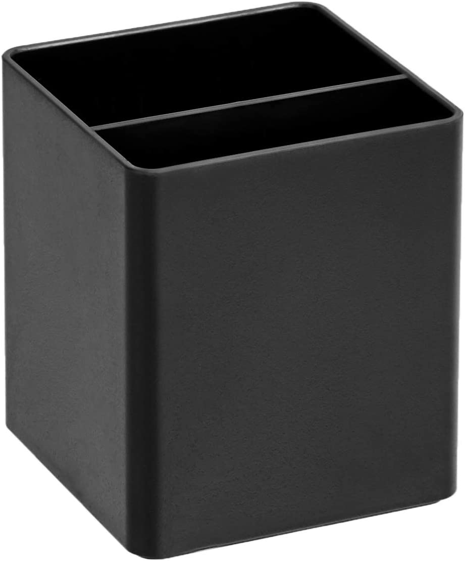 AmazonBasics Plastic Desk Organizer - Pen Cup, Black