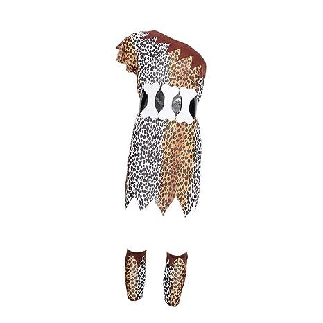 Hellery Traje de Disfraces de Aborigen Africano Indio ...