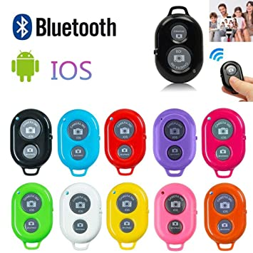 Wireless Bluetooth Camera Shutter Remote Control Camera Shutter Remote Control with Bluetooth Wireless Create Amazing Photos and Selfies Works with Most Smartphones and Tablets Black
