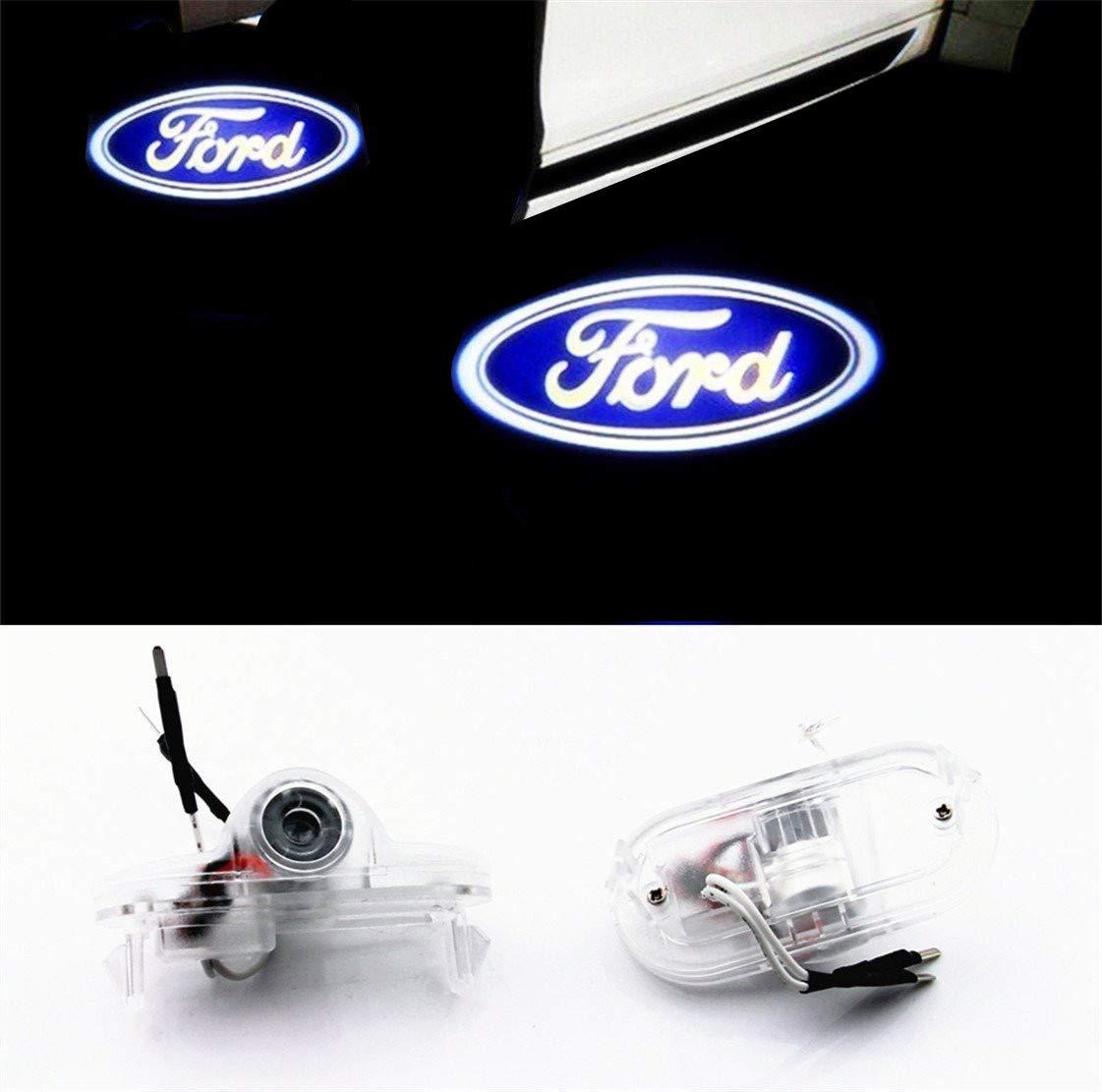 Iluminación de la entrada proyector 3D HD Puerta Logo Light (1par): Amazon.es: Coche y moto