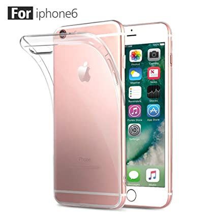 Fundas iPhone 6/6s,ONSON® Carcasa Funda Gel Transparente para iPhone 6 y 6S, Silicona TPU de Alta Resistencia y Flexibilidad