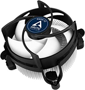 ARCTIC Alpine 12 - CPU Cooler for Intel Sockets with 92 mm PWM Fan, up to 95 Watts Cooling Power, with Pre-Applied MX-2 Thermal Compound, Easy Installation