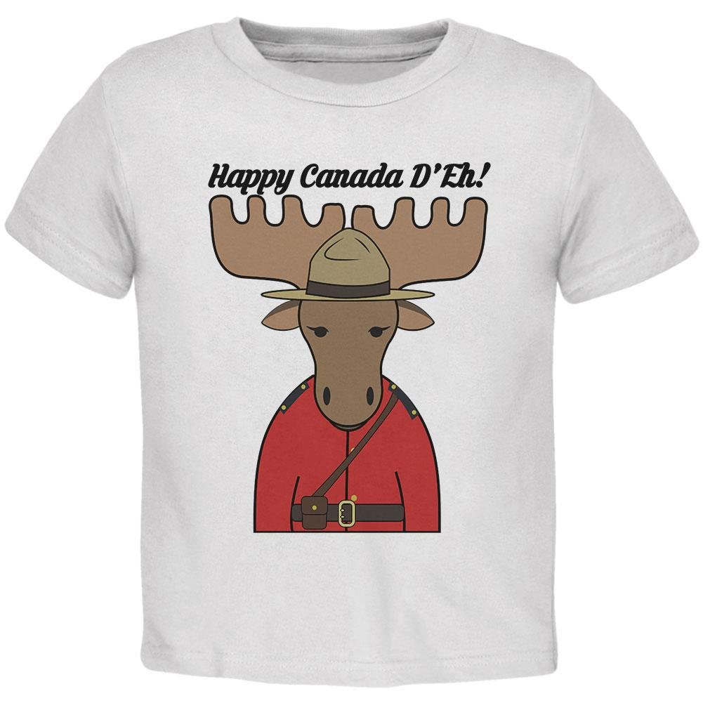 Happy Canada Day Moose Canadian Toddler T Shirt