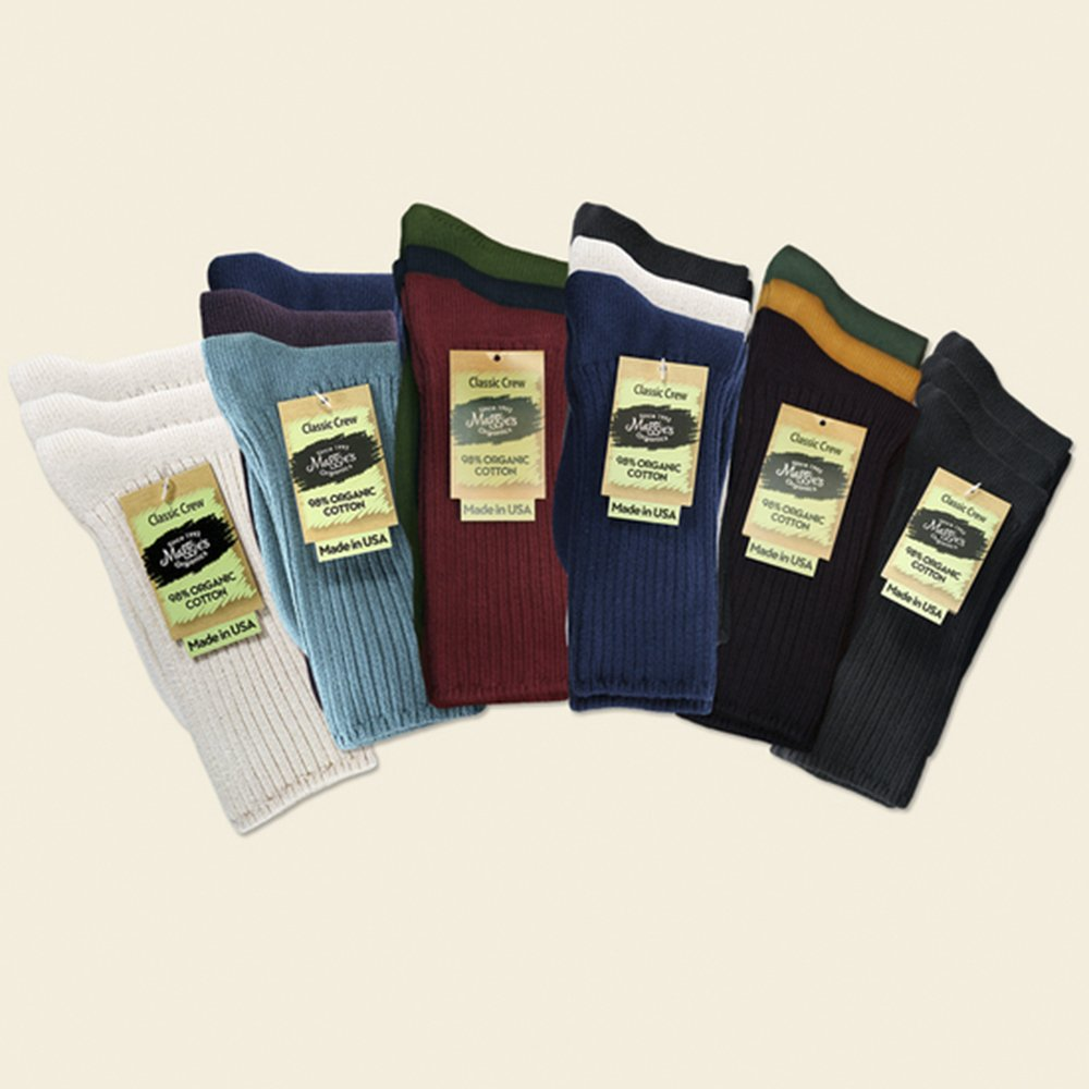 Maggies Organic Cotton Crew Sock Tri-pack