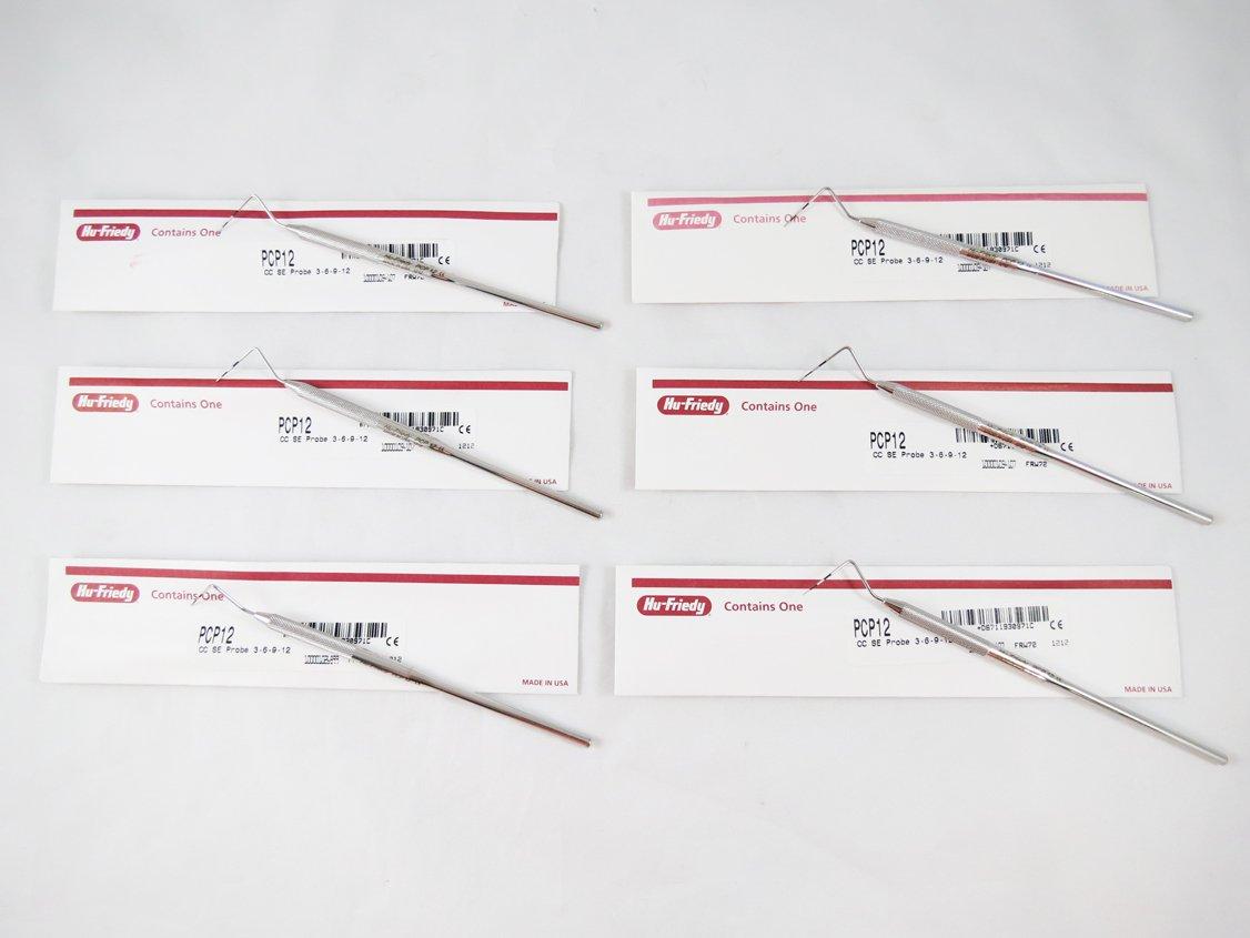 Dental Thin Williams Color Code Probe PCP12 Kit 6/Pcs HU FRIEDY Original