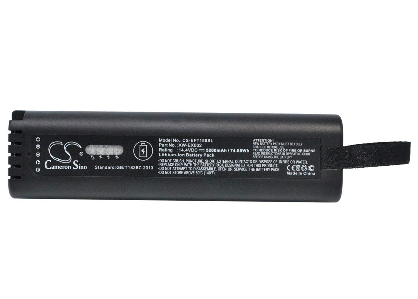 VINTRONS, EXFO L08D185A, L08D185UG, XW-EX002, XW-EX006 Replacement Battery for EXFO FTB-150, FTB-200, by VI VINTRONS