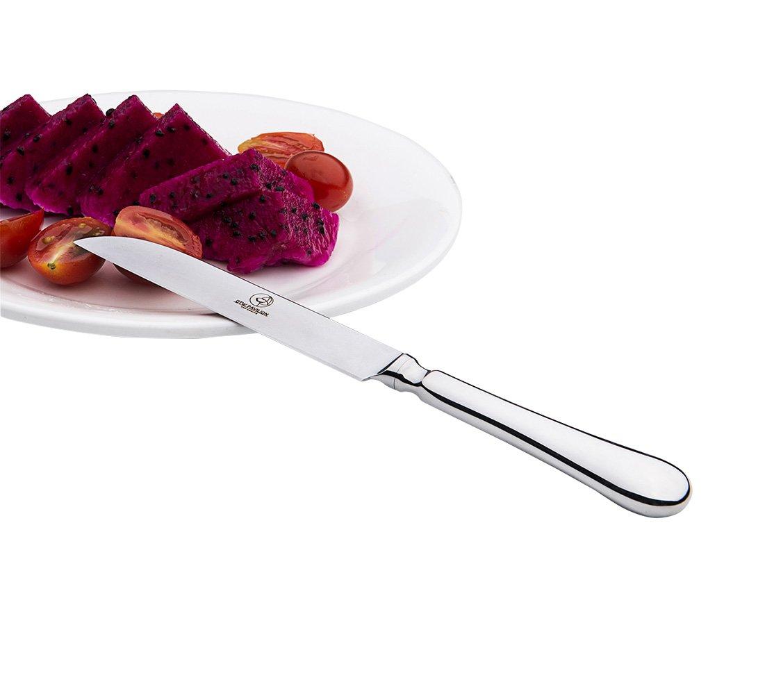 6-Piece Fruit Vegetable Knife,6.6'' Ultra Sharp Ergonomic Handle Stainless Steel Tableware Kitchen Set by OTW PAVILION