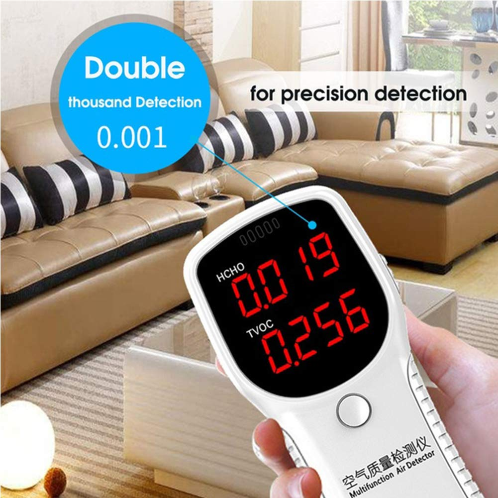 FADZECO Air Quality Monitor HCHO TVOC PM2.5 PM10 Formaldehyde Detector Tester Home Test