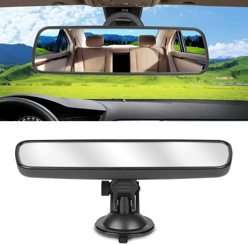 Width 24.8cm//9.76in Safety Car Seat Mirror for Rear Facing Infant Universal Car Truck Interior Rear View Mirror Adjustable White backseat Mirror ANTI GLARE Suction Cup Baby Mirror for Car