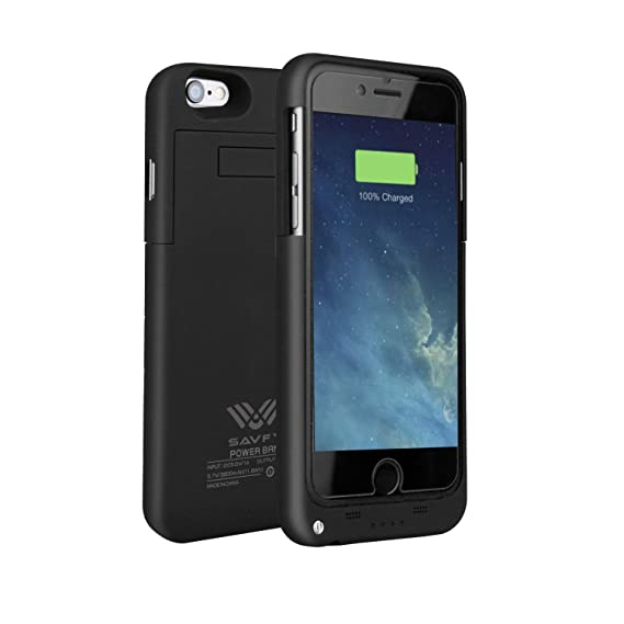 buy online 2cd7e 376b4 iPhone 6 / 6S Battery Case, SAVFY Portable 3200mAh Polymer Battery Rose  Gold Battery for iPhone 6/6S 4.7