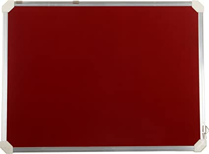Cosmic Success 1 5X2 ft Notice Pin-up Board (Red)