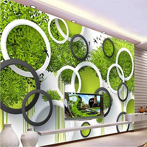 3D壁画壁紙剥離可能壁紙家具装飾壁紙画像手描き3D木鳥居間3D壁画壁紙写真-420X290CM
