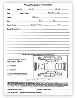 Amazon Com Multi Point Inspection Forms Generic Vehicle