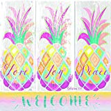Welcome Love Joy Peace Pineapples 20 Count 3-Ply Paper Luncheon Napkins Pack of 2